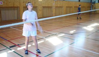 Ivana Kvisová na soustředění s badmintonovým klubem RSC Brno